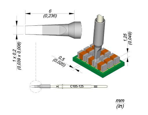 JBC Soldering Tip Cartridge Nano 0,1mm
