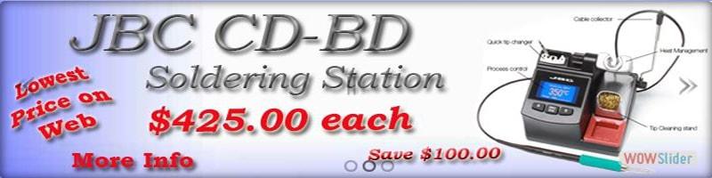 JBC Tools CD-1BD Soldering Stations, smd rework stations, desoldering stations, preheaters