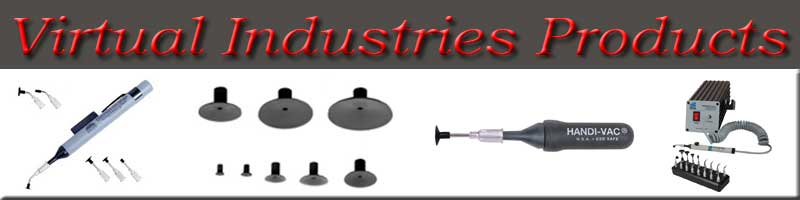 Virtual Industries, vacuum pickup tools, benchtop vacuum pickup stations