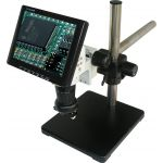 """HEIScope HEI-VM-BS 8"""" LCD Microscope with Boom Stand"""