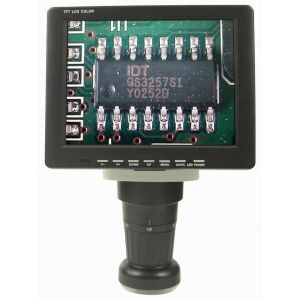 """HEIScope Mv02011111 HEI-VM-LCD High Resolution LCD Zoom Inspection System Microscope includes a Video Zoom microscope with a 8"""" viewable monitor."""