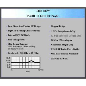Auburn Technologies P-20B 12Ghz RF Probe Specs