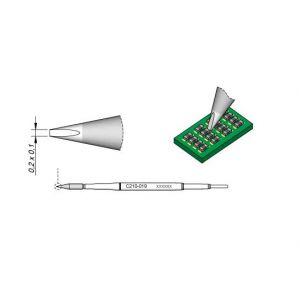 C210019 JBC Tools Soldering Chisel Cartridge Tip 0.2mm x 0.1mm