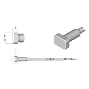JBC Tools C470044 Lead Free Flat 10mm x 15 mm Soldering Cartridge Tip